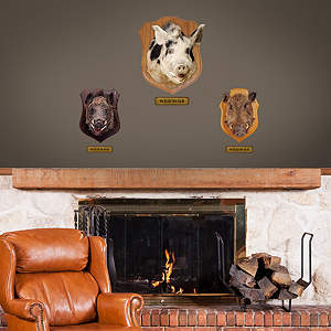 Mounted Boar Head - Fathead Jr. Fathead Wall Decal